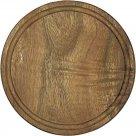 grilovací Prkénko na krájení kulaté s drážkou 25 cm dřevo Kesper