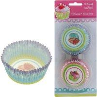 Papírové košíčky na muffiny 80 ks, 2 různé barvy