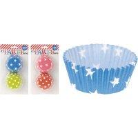Papírové košíčky na muffiny 100 ks, různé barvy