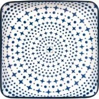 Talíř čtvercový Gusta Out Of The Blue 12,5x12,5 cm, dekor hvězdy